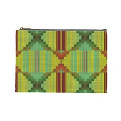 Tribal Shapes Cosmetic Bag (large) by LalyLauraFLM