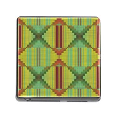 Tribal Shapes Memory Card Reader With Storage (square) by LalyLauraFLM