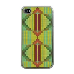 Tribal Shapes Apple Iphone 4 Case (clear) by LalyLauraFLM