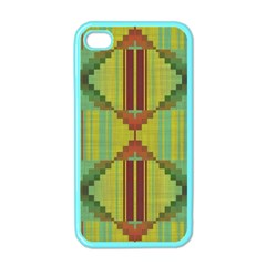 Tribal Shapes Apple Iphone 4 Case (color) by LalyLauraFLM
