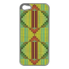 Tribal Shapes Apple Iphone 5 Case (silver) by LalyLauraFLM