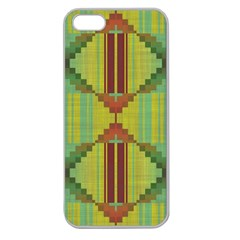 Tribal Shapes Apple Seamless Iphone 5 Case (clear) by LalyLauraFLM
