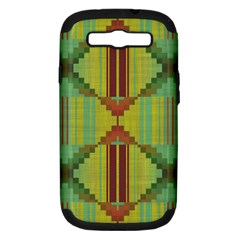 Tribal Shapes Samsung Galaxy S Iii Hardshell Case (pc+silicone) by LalyLauraFLM