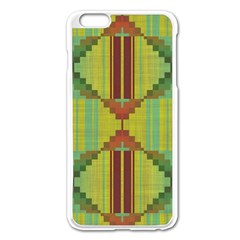 Tribal Shapes Apple Iphone 6 Plus Enamel White Case by LalyLauraFLM