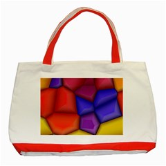 3d Colorful Shapes Classic Tote Bag (red) by LalyLauraFLM