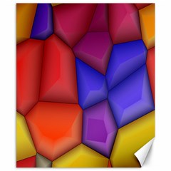3d Colorful Shapes Canvas 8  X 10  by LalyLauraFLM