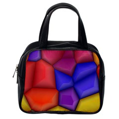 3d Colorful Shapes Classic Handbag (one Side) by LalyLauraFLM