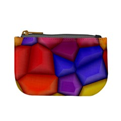 3d Colorful Shapes Mini Coin Purse by LalyLauraFLM