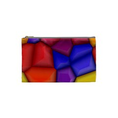 3d Colorful Shapes Cosmetic Bag (small) by LalyLauraFLM