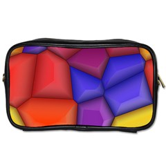 3d Colorful Shapes Toiletries Bag (one Side) by LalyLauraFLM