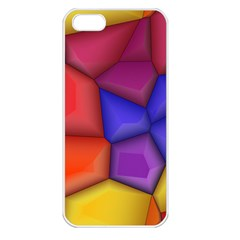 3d Colorful Shapes Apple Iphone 5 Seamless Case (white) by LalyLauraFLM