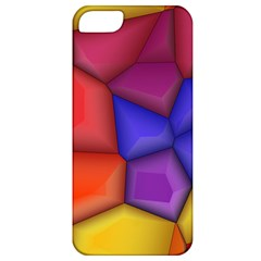 3d Colorful Shapes Apple Iphone 5 Classic Hardshell Case by LalyLauraFLM
