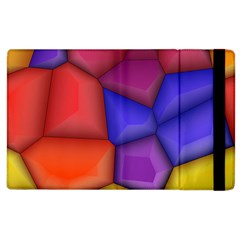 3d Colorful Shapes Apple Ipad 3/4 Flip Case by LalyLauraFLM