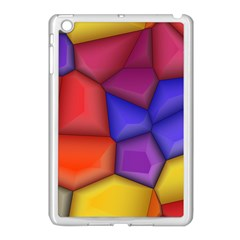 3d Colorful Shapes Apple Ipad Mini Case (white) by LalyLauraFLM