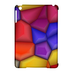 3d Colorful Shapes Apple Ipad Mini Hardshell Case (compatible With Smart Cover) by LalyLauraFLM