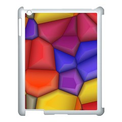 3d Colorful Shapes Apple Ipad 3/4 Case (white) by LalyLauraFLM
