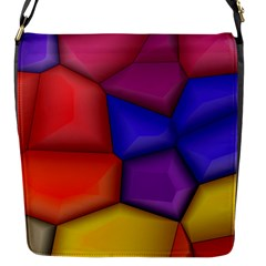 3d Colorful Shapes Flap Closure Messenger Bag (small) by LalyLauraFLM