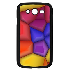 3d Colorful Shapes Samsung Galaxy Grand Duos I9082 Case (black) by LalyLauraFLM