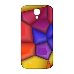3d Colorful Shapes Samsung Galaxy S4 I9500/i9505  Hardshell Back Case by LalyLauraFLM