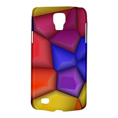 3d Colorful Shapes Samsung Galaxy S4 Active (i9295) Hardshell Case by LalyLauraFLM