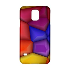 3d Colorful Shapes Samsung Galaxy S5 Hardshell Case  by LalyLauraFLM