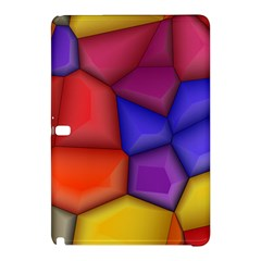 3d Colorful Shapes Samsung Galaxy Tab Pro 12 2 Hardshell Case by LalyLauraFLM