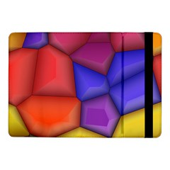 3d Colorful Shapes Samsung Galaxy Tab Pro 10 1  Flip Case by LalyLauraFLM