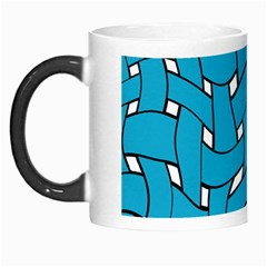 Blue Distorted Weave Morph Mug by LalyLauraFLM