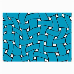 Blue Distorted Weave Glasses Cloth (large, Two Sides) by LalyLauraFLM