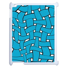 Blue Distorted Weave Apple Ipad 2 Case (white)