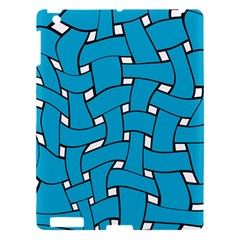 Blue Distorted Weave Apple Ipad 3/4 Hardshell Case by LalyLauraFLM