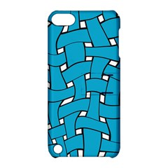 Blue Distorted Weave Apple Ipod Touch 5 Hardshell Case With Stand by LalyLauraFLM