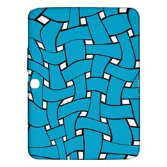 Blue Distorted Weave Samsung Galaxy Tab 3 (10 1 ) P5200 Hardshell Case  by LalyLauraFLM