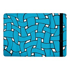 Blue Distorted Weave Samsung Galaxy Tab Pro 10 1  Flip Case by LalyLauraFLM