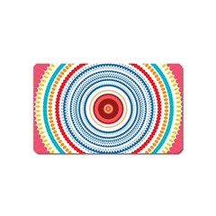Colorful Round Kaleidoscope Magnet (name Card) by LalyLauraFLM