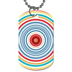 Colorful Round Kaleidoscope Dog Tag (two Sides) by LalyLauraFLM