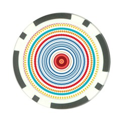 Colorful Round Kaleidoscope Poker Chip Card Guard (10 Pack) by LalyLauraFLM