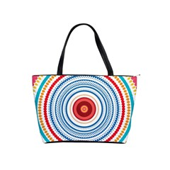 Colorful Round Kaleidoscope Classic Shoulder Handbag by LalyLauraFLM