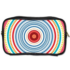 Colorful Round Kaleidoscope Toiletries Bag (one Side) by LalyLauraFLM