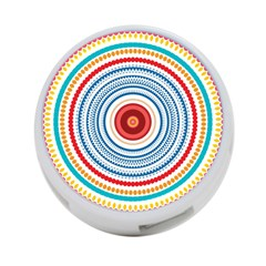 Colorful Round Kaleidoscope 4 Port Usb Hub (two Sides) by LalyLauraFLM