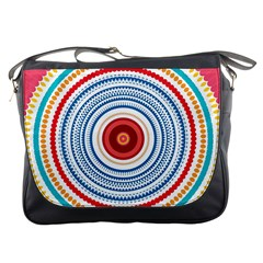 Colorful Round Kaleidoscope Messenger Bag by LalyLauraFLM