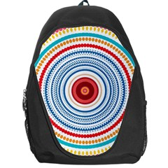 Colorful Round Kaleidoscope Backpack Bag by LalyLauraFLM