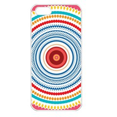 Colorful Round Kaleidoscope Apple Iphone 5 Seamless Case (white) by LalyLauraFLM