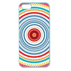 Colorful Round Kaleidoscope Apple Seamless Iphone 5 Case (color) by LalyLauraFLM