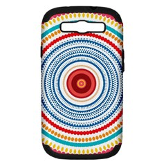 Colorful Round Kaleidoscope Samsung Galaxy S Iii Hardshell Case (pc+silicone) by LalyLauraFLM