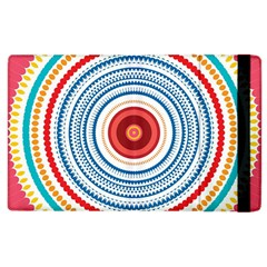 Colorful Round Kaleidoscope Apple Ipad 2 Flip Case by LalyLauraFLM