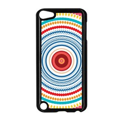 Colorful Round Kaleidoscope Apple Ipod Touch 5 Case (black) by LalyLauraFLM