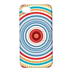 Colorful Round Kaleidoscope Apple Iphone 4/4s Hardshell Case With Stand by LalyLauraFLM