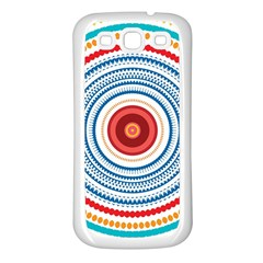 Colorful Round Kaleidoscope Samsung Galaxy S3 Back Case (white) by LalyLauraFLM