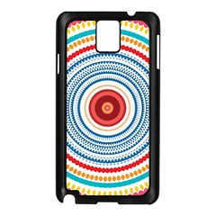 Colorful Round Kaleidoscope Samsung Galaxy Note 3 N9005 Case (black) by LalyLauraFLM